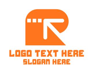 Transfer - Arrow Letter R logo design