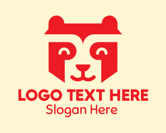 Stuffed Animal - Happy Orange Raccoon logo design