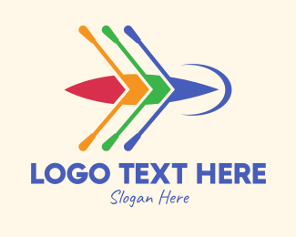 Kayak - Colorful Canoe logo design