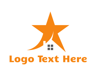 Orange House - Orange Star House logo design