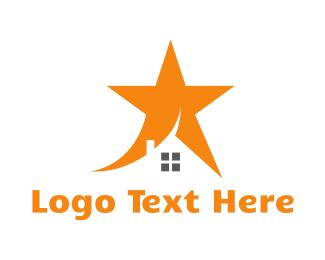 Shooting Star - Orange Star House logo design