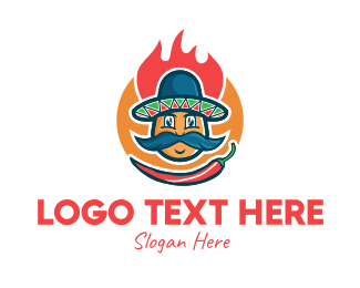 Chili - Spicy Chili Mexican Restaurant logo design