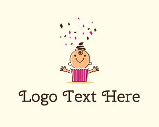 Birthday - Baby Cake logo design