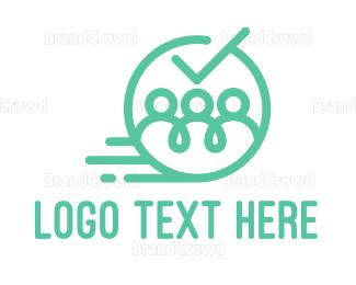 Customer Support - Blue Team logo design