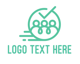 Recruiter - Blue Team logo design