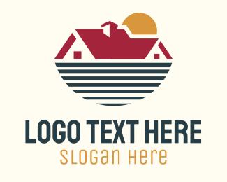 Sea - House Sea & Sun logo design