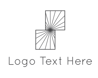 Centered - Square Illusion logo design