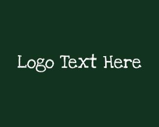 Text - Handwritten Chalk Text logo design