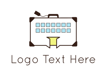 Hostel - Building Luggage logo design
