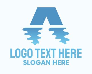 Bridge - Water Reflection logo design