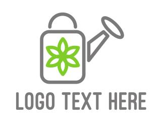 Spring - Flower Watering logo design