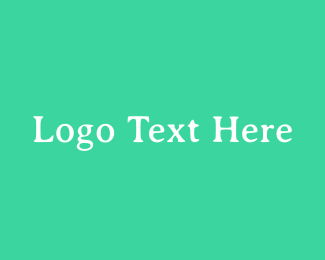 Small Business - Fresh Green Serif Text logo design