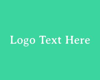 Esthetics - Fresh Green Serif Text logo design