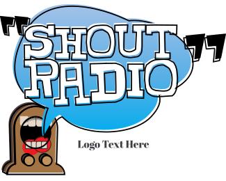 News - Shout Radio logo design