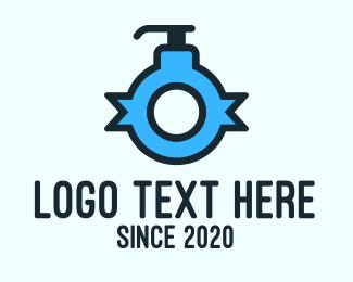 Lotion - Blue Lotion Letter O logo design