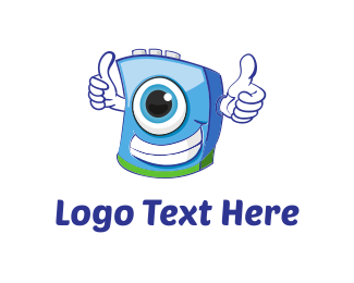 Washing Machine - Laundry Cartoon logo design