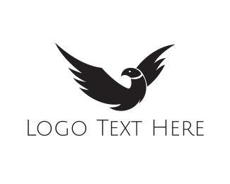 Blackhawk - Wild Black Falcon logo design