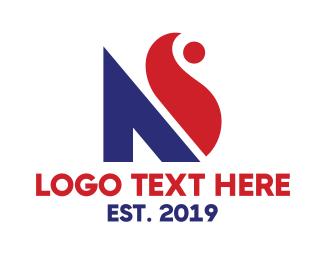 Combination - Modern NS Lettermark logo design