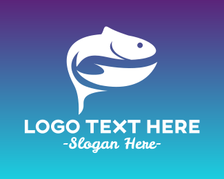 Salmon - Fresh Fish Silhouette logo design