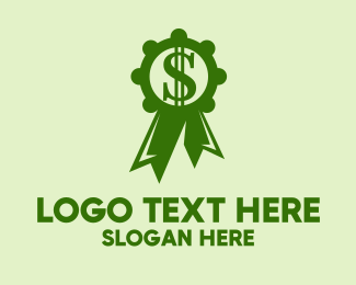 Dollar Sign - Green Dollar Medal logo design