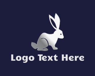 Hare - Silver Rabbit logo design