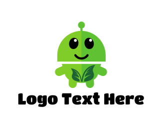 Martian - Leaf Robot logo design