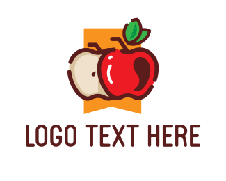 Organic Fruit - Fresh Apple Fruit  logo design