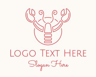 Shellfish - Red Lobster logo design