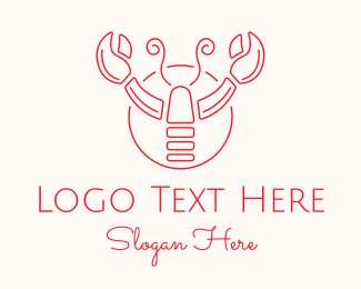 Gourmet - Red Lobster logo design
