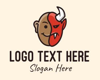 Hot Choco - Devil Man Mask logo design