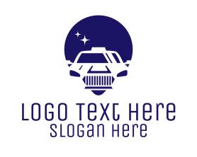 Locator - Cab Location Pin Icon logo design