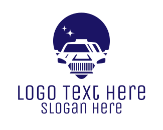 Ridesharing - Cab Location Pin Icon logo design