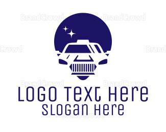 Car Rental - Cab Location Pin Icon logo design