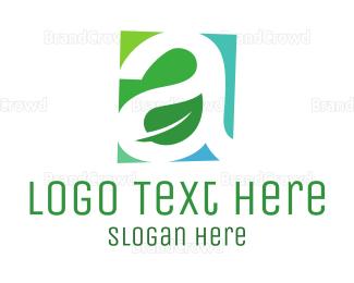 Eco Energy - Green A Leaf logo design