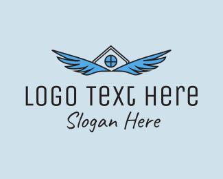 Wing - Housing Wings  logo design