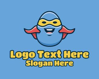 Cartoon Egg Hero  Logo