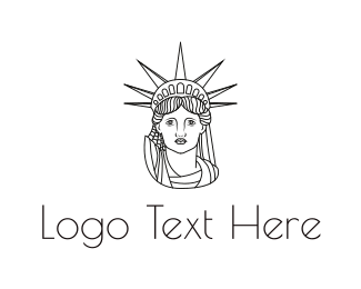 Outlines - Minimalist Statue of Liberty logo design