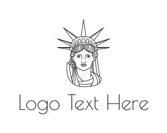 New York - Minimalist Statue of Liberty logo design
