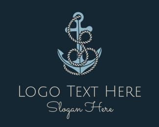 S - Anchor Rope Letter S logo design
