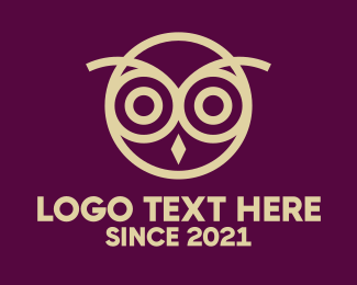 Owl - Golden Owl Bird logo design