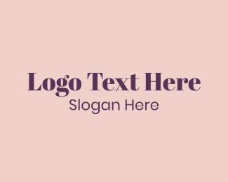 Fashion Blog - Purple Traditional Lettermark logo design