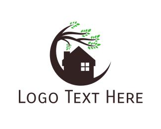Gardener - House & Tree logo design