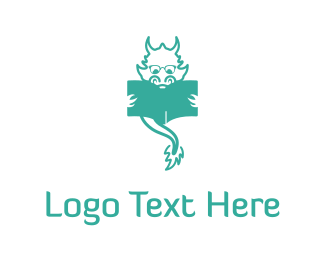 Cattle - Dragon Reading logo design