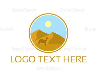 Egyptian - Camel Desert Badge logo design