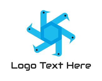 Mechanic - Blue Mechanic Bird logo design