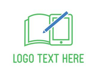 Blue And Green - Green Notebook logo design