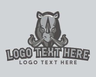 Rhinoceros - Rhino Flames logo design