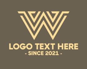 Brand - Brown Letter W logo design