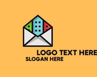 Letter Envelope - Urban Postal Service logo design