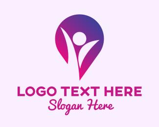 Person - Fitness Person Locator logo design
